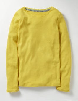 Sweetcorn Yellow Supersoft Pointelle T-shirt