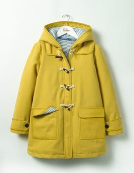 Sunshine Yellow The Duffle Coat