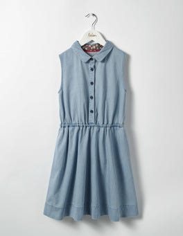 Mid Chambray Denim Shirt Dress