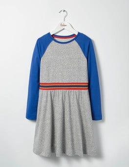 Grey Marl/Klein Blue Jersey Baseball Dress