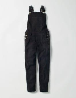 Black Skinny Overalls