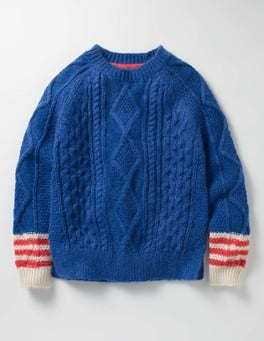 Klein Blue Cable Jumper