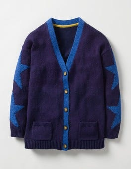 School Navy Relaxed Cardigan