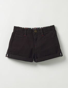 Black Turn-up Shorts