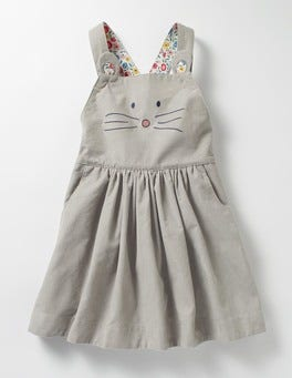 Grey Mouse Animal Overall Dress