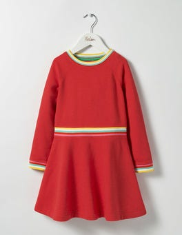 Jam Red Marl Cosy Sweatshirt Dress