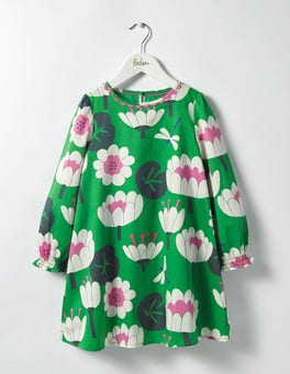 Iguana Green Lily Pad Fun Printed Dress