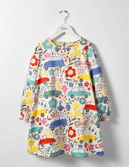 Blooming Traffic Fun Printed Dress