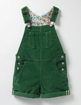 Willow Green Short Adventure Dungarees