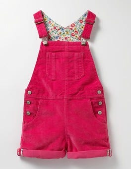 Honeysuckle Pink Short Adventure Dungarees