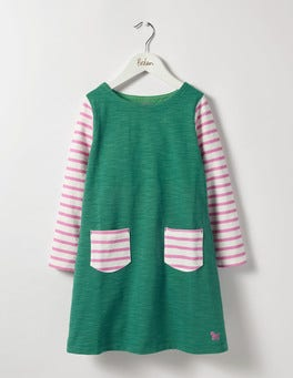Greenhouse Green Stripy Jersey Dress
