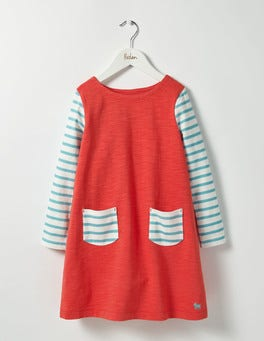 Jam Red Stripy Jersey Dress