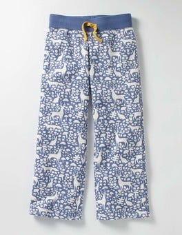 Washed Bluebell Blue Woodland Casual Sweatpants