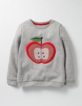 Grey Marl Apple Cosy Bouclé Sweatshirt
