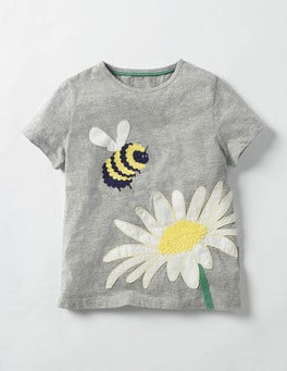 Grey Marl Bee Great Outdoors T-shirt