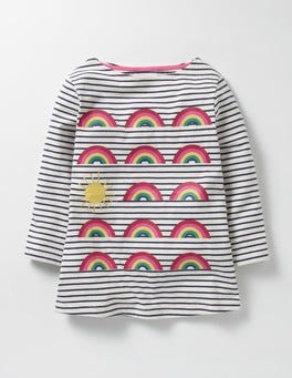 School Navy/Ecru Rainbows Odd One Out T-shirt