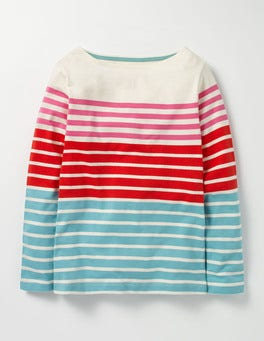 Dragonfruit Pink/Rosehip Red Colourfully Stripy T-shirt
