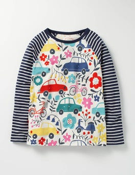 Blooming Traffic Hotchpotch Raglan T-shirt