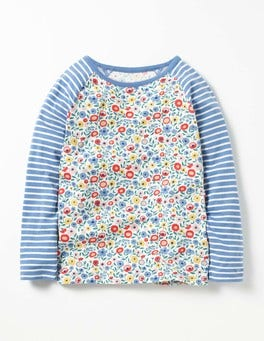 Multi Folk Floral Hotchpotch Raglan T-shirt