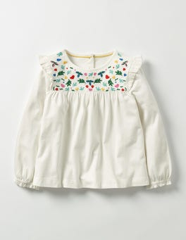 Ecru Pretty Embroidered Top