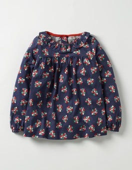School Navy Posy Pretty Printed Top