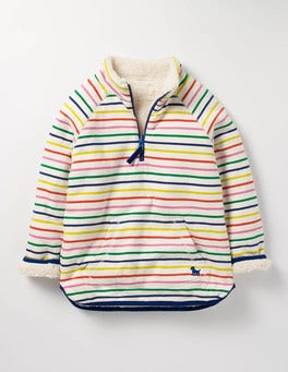 Rainbow Breton Reversible Teddy Half-zip