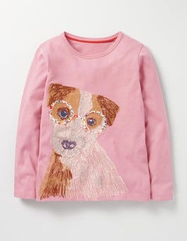 Provence Dusty Pink Dog Superstitch Pet T-shirt