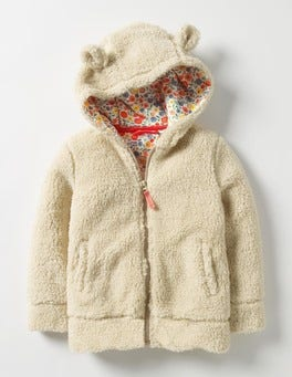 Oatmeal Mouse Cosy Teddy Hoodie