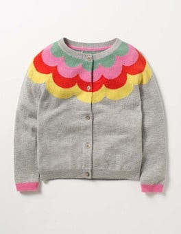 Grey Marl Rainbow Cardigan