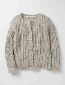Grey Marl/Rose Gold Cosy Everyday Cardigan