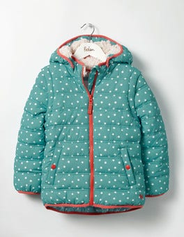 Duck Egg Blue Stars Cosy Two-in-one Padded Jacket