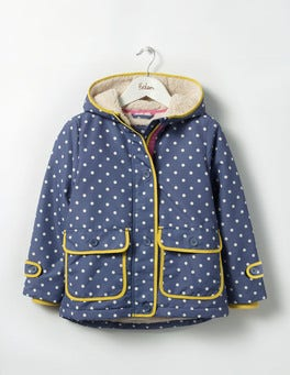 English China Blue Spot Rabbit Sherpa-lined Anorak