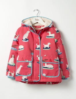 Pink Berry China Dogs Sherpa-lined Anorak