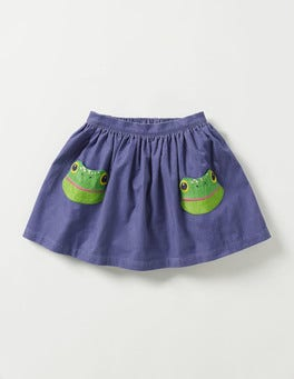 Dark Wisteria Purple Frog Animal Pocket Skirt