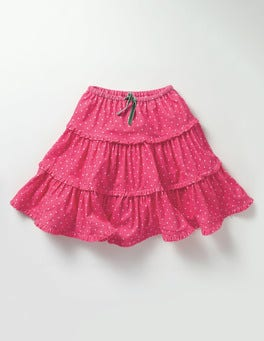 Honeysuckle Pink Pin Spot Twirly Frill Skirt