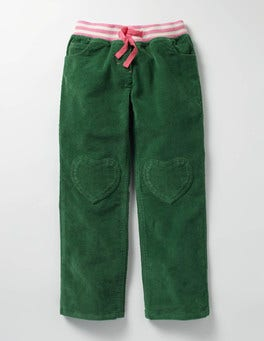 Willow Green Heart Patch Pants