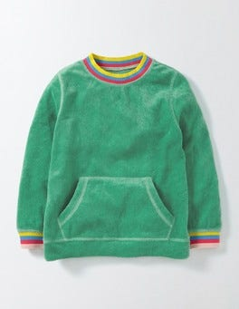 Wasabi Green Towelling Sweatshirt