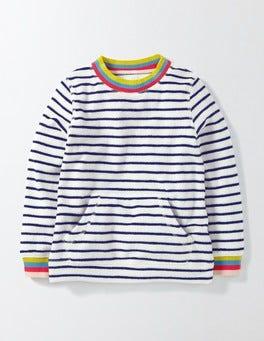 Ivory/Starboard Stripe Towelling Sweatshirt