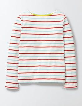 Mineral Blue/Rosehip Stripe Breton T-Shirt