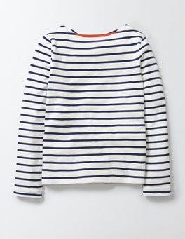 Ivory/Navy Stripe Breton T-shirt
