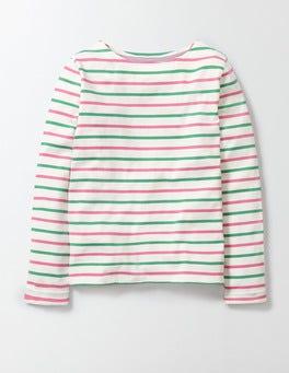 Pink Fizz/Wasabi Stripe Breton T-shirt