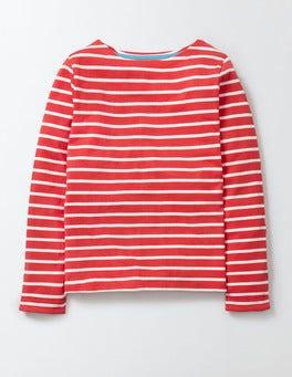 Raspberry Whip/Ivory Stripe Breton T-Shirt