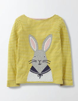 Cantelope Stripe Bunny Cosy Bunny T-Shirt