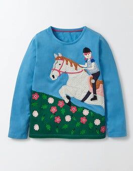 Bright Bluebell Horse Fun Girl T-Shirt