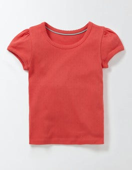 Raspberry Whip Short Sleeve Pointelle T-shirt
