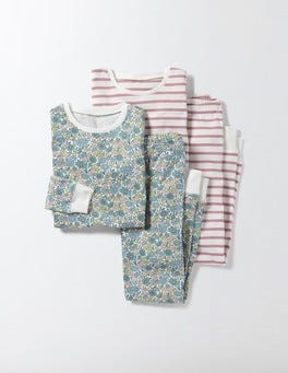 Multi Flower Bed Twin Pack Long Johns