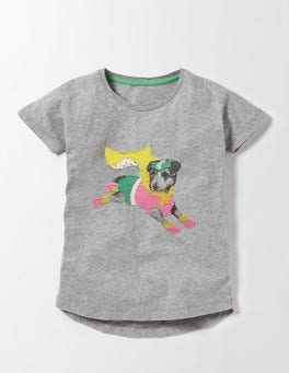 Grey Marl Sprout Superhero T-Shirt