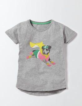 Grey Marl Sprout Superhero T-Shirt