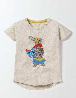 Ecru Marl Bunny Superhero T-Shirt