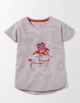 Pink Icing Marl Mouse Superhero T-Shirt